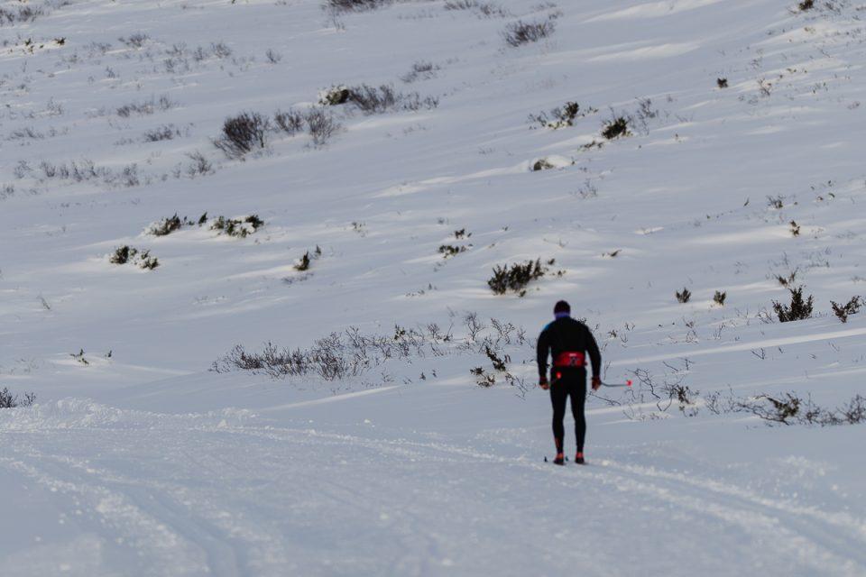 På ski langs Tyin