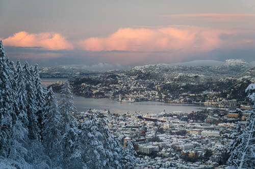 Vinter over Bergen